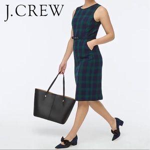 J. Crew Blackwatch Tartan Belted Sheath Dress • 12